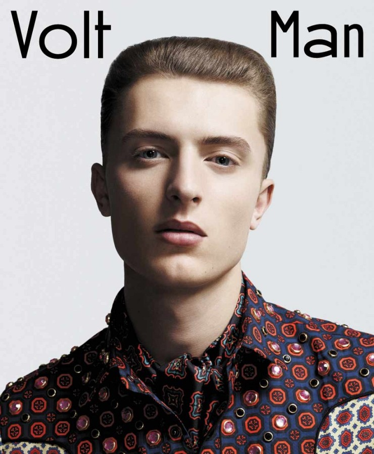 Volt Man Magazine Front Cover make up by Katie Fine